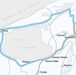 Szlak Rowerowy - Smołdzino - Rowy - Gardna - Czołpino